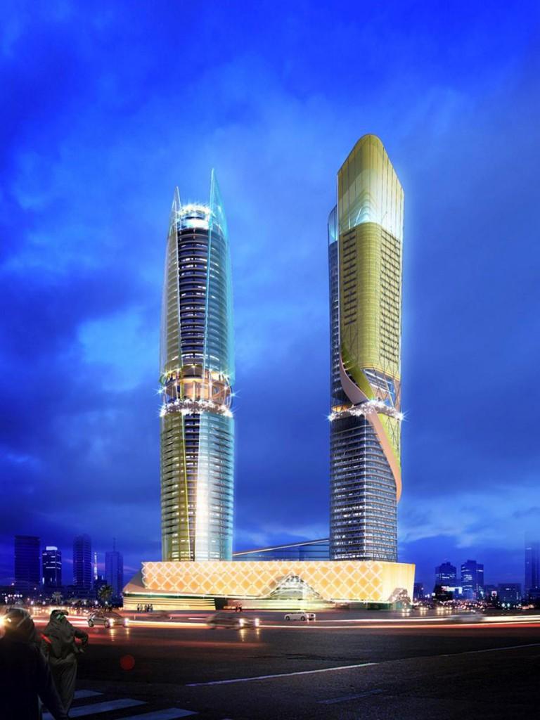 Dubai: Hochhaus mit Regenwald und Strand-Etagen